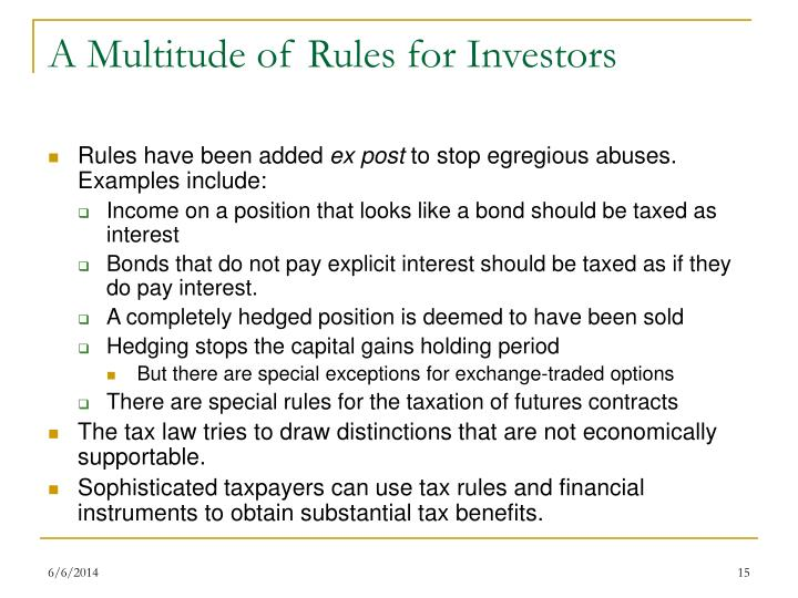 A Multitude of Rules for Investors
