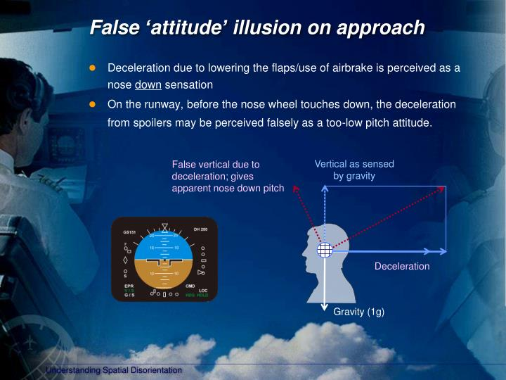 False 'attitude' illusion on approach