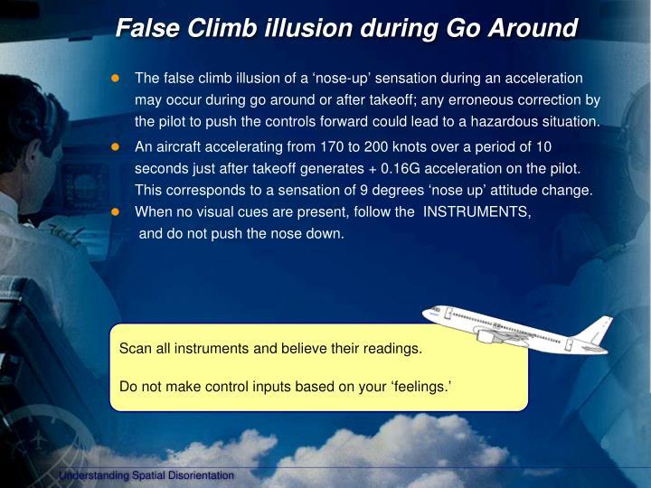False Climb illusion during Go Around
