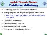 arabic domain names contribution methodology