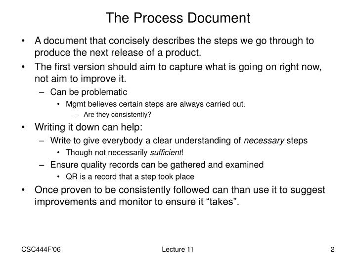 The Process Document