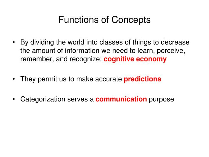 Functions of concepts