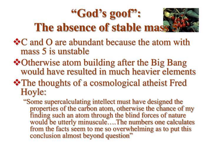 """""""God's goof"""":"""