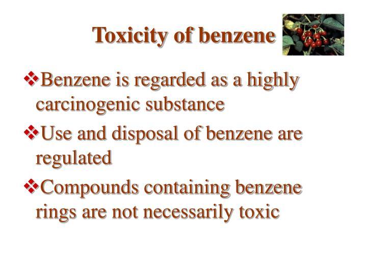 Toxicity of benzene