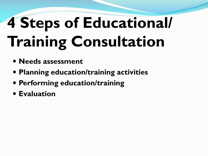 4 Steps of Educational/ Training Consultation