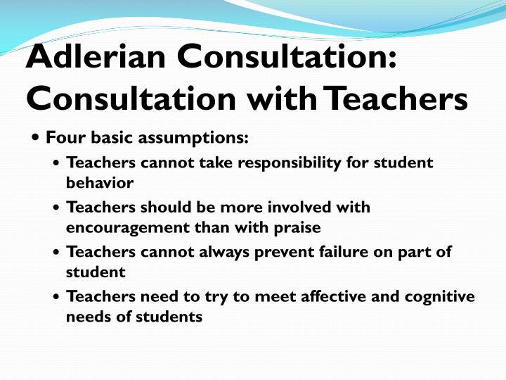 Adlerian Consultation:
