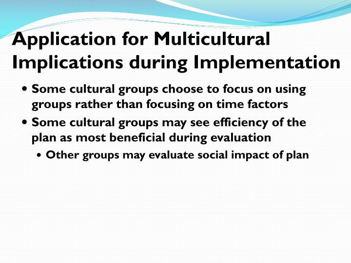 Application for Multicultural
