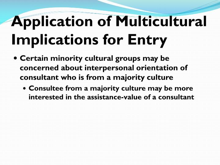 Application of Multicultural