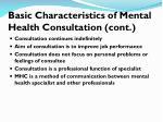 basic characteristics of mental health consultation cont1