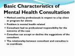 basic characteristics of mental health consultation