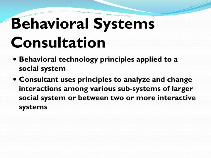 Behavioral Systems Consultation