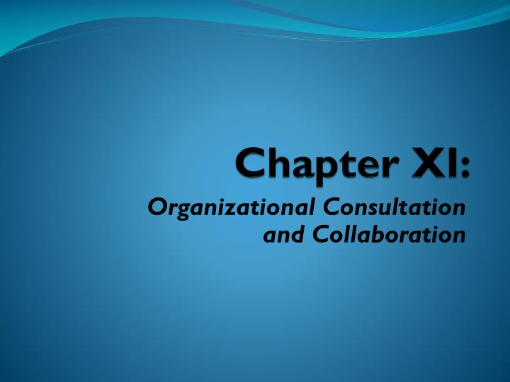 Chapter XI: