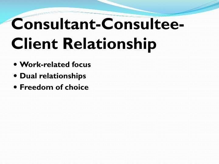 Consultant-Consultee-Client