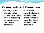 consultants and consultees