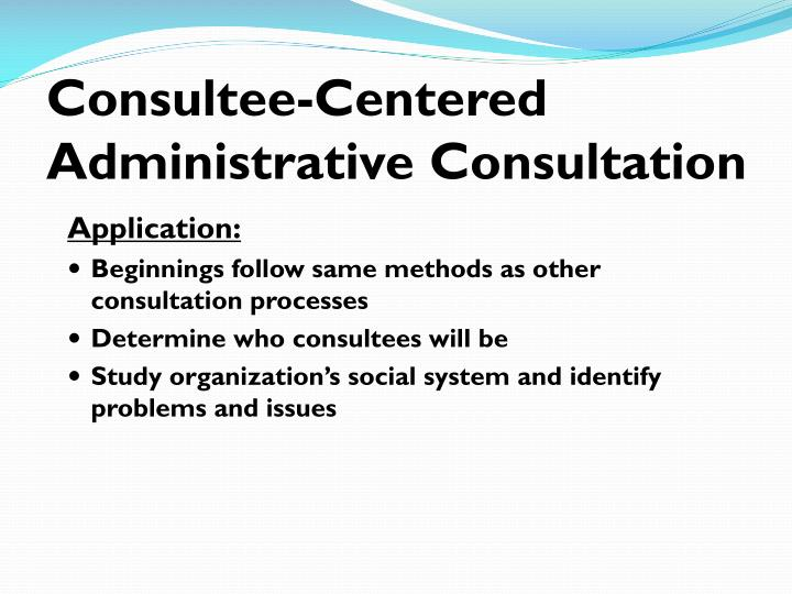 Consultee-Centered Administrative Consultation