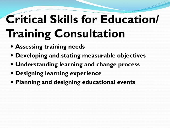 Critical Skills for Education/