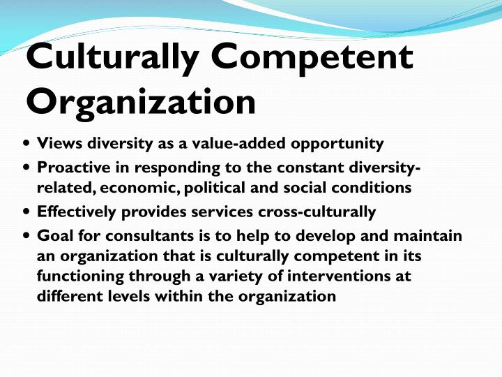 Culturally Competent Organization