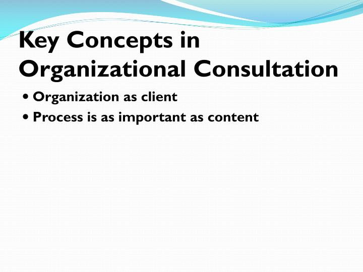 Key Concepts in Organizational Consultation