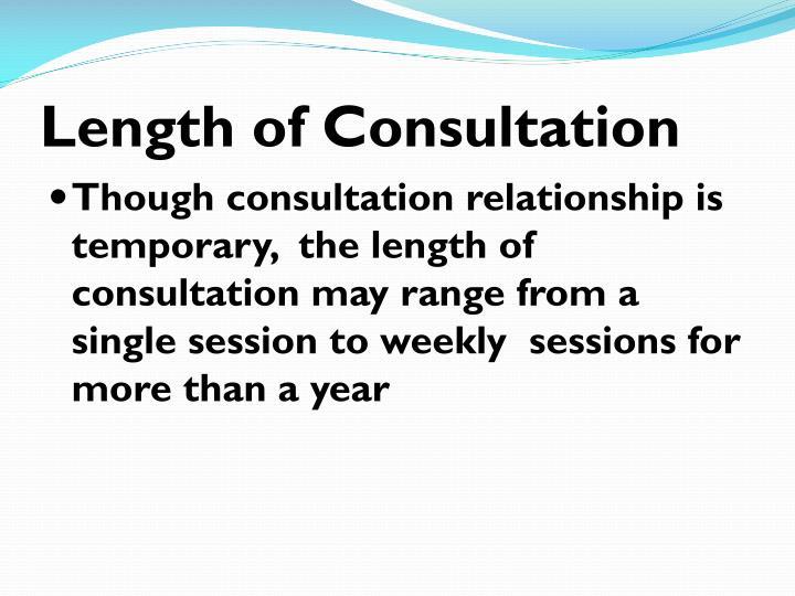 Length of Consultation