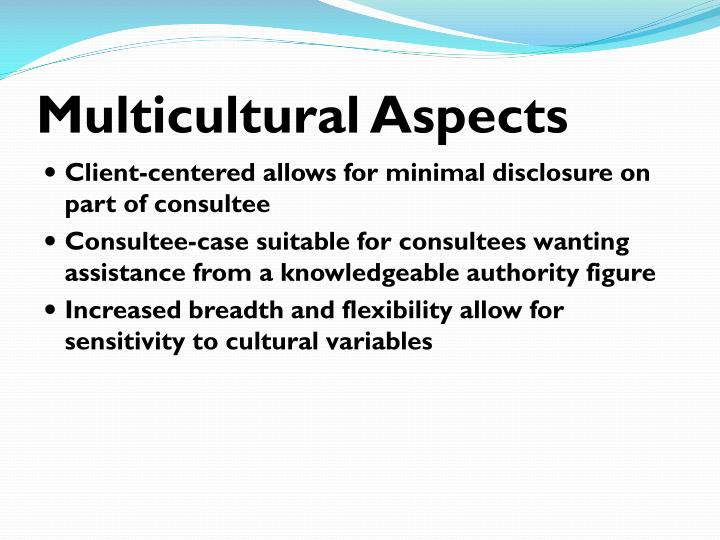 Multicultural Aspects