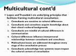 multicultural cont d