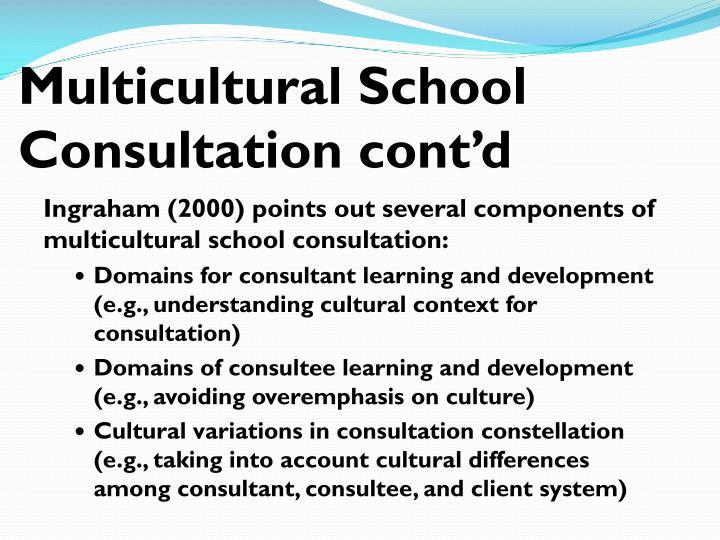 Multicultural School Consultation cont'd