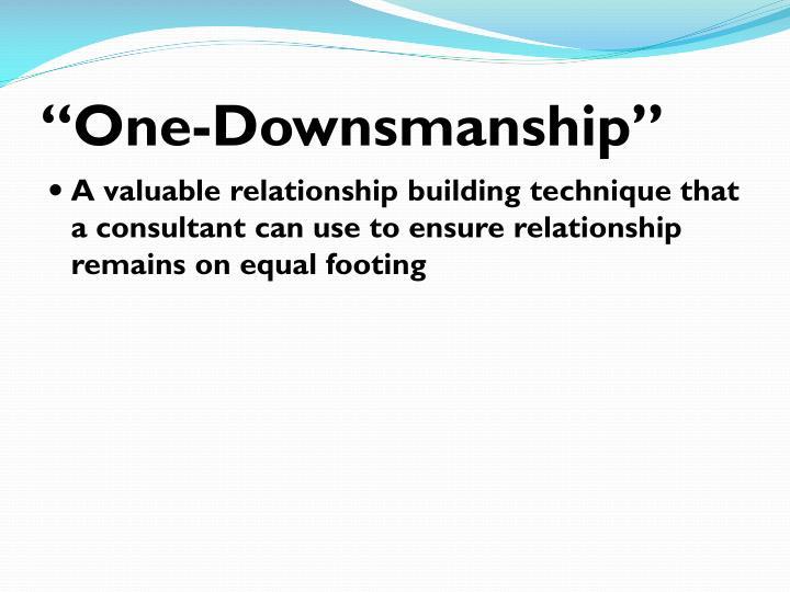 """One-Downsmanship"""