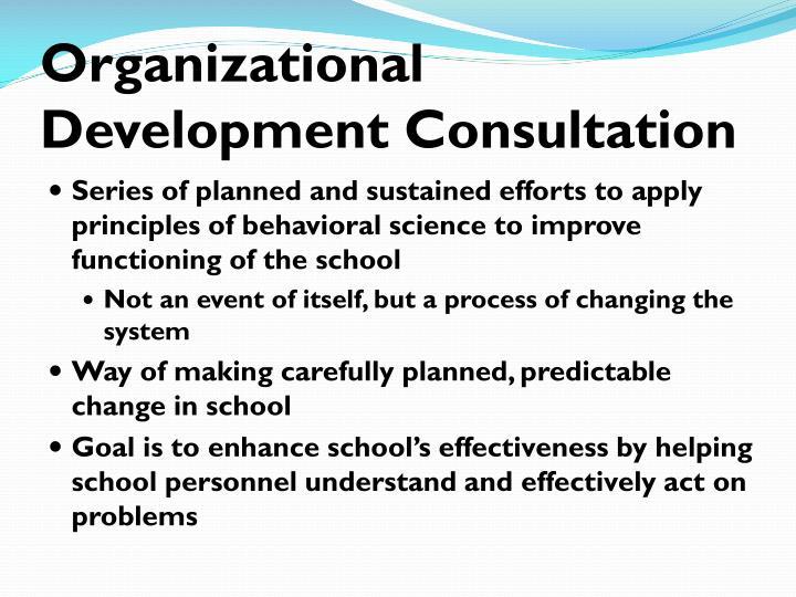 Organizational Development Consultation
