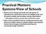 practical matters systems view of schools2