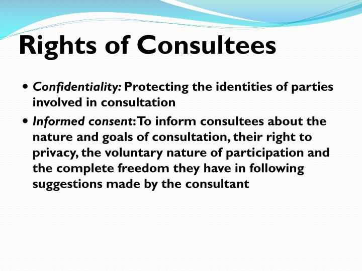 Rights of Consultees