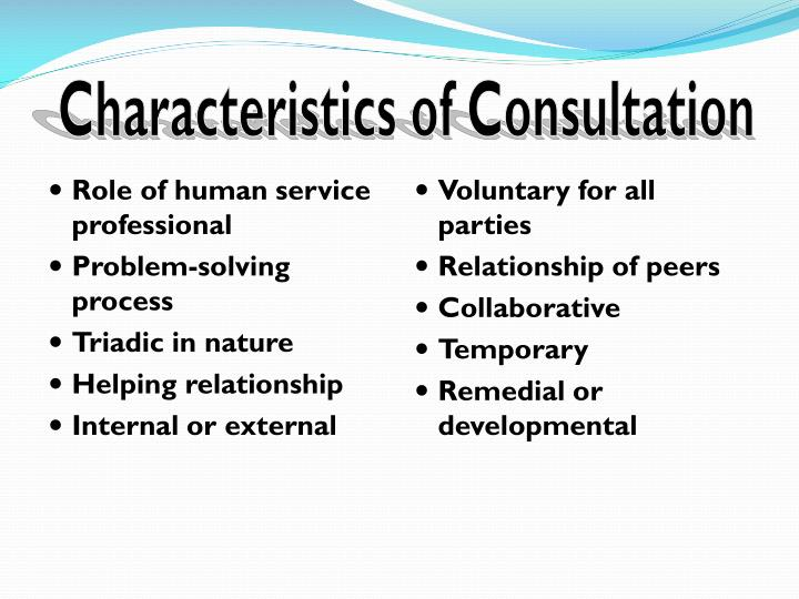 Characteristics of Consultation