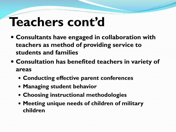 Teachers cont'd
