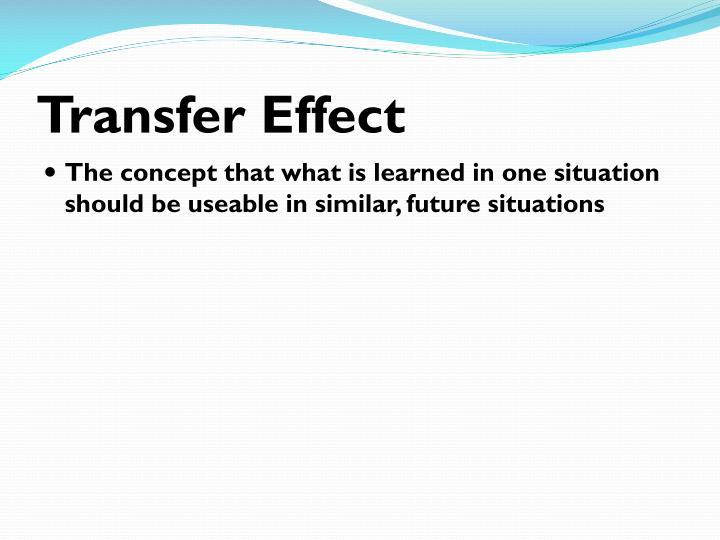 Transfer Effect