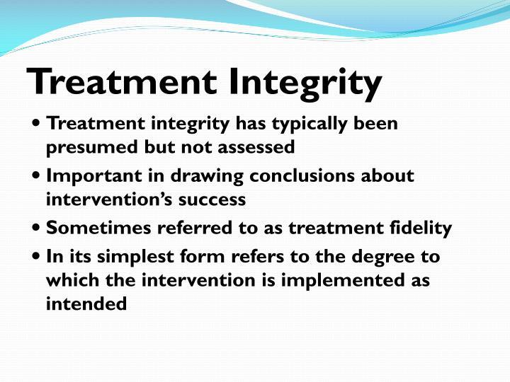 Treatment Integrity