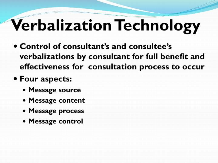 Verbalization Technology