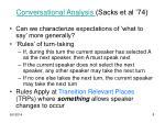 conversational analysis sacks et al 74