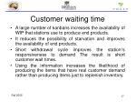 customer waiting time