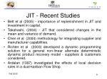 jit recent studies