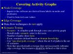 covering activity graphs