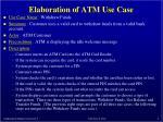 elaboration of atm use case