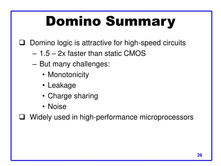 Domino Summary