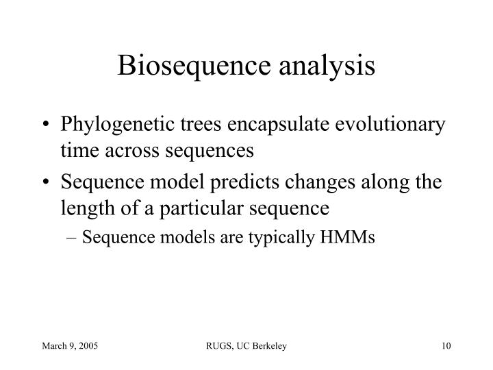 Biosequence analysis