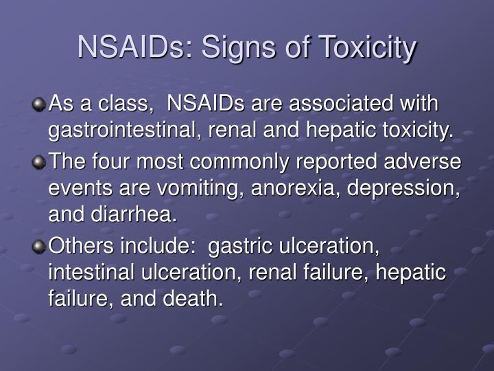 NSAIDs: Signs of Toxicity