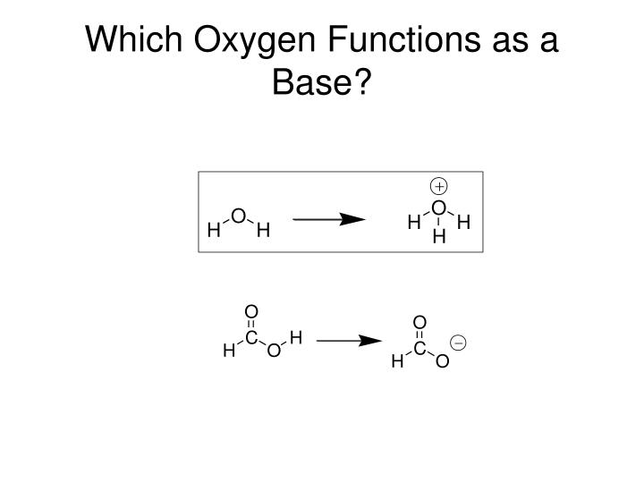 Which Oxygen Functions as a Base?