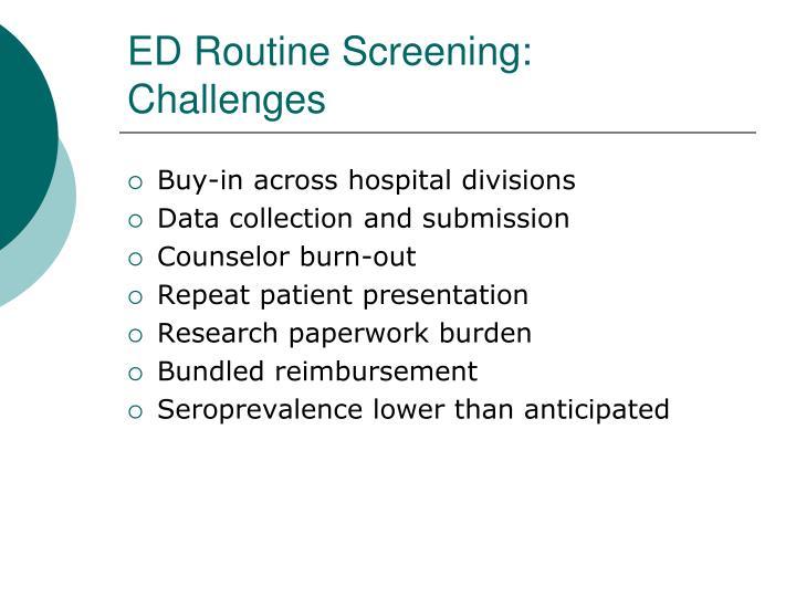 ED Routine Screening:
