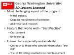 george washington university ed lessons learned