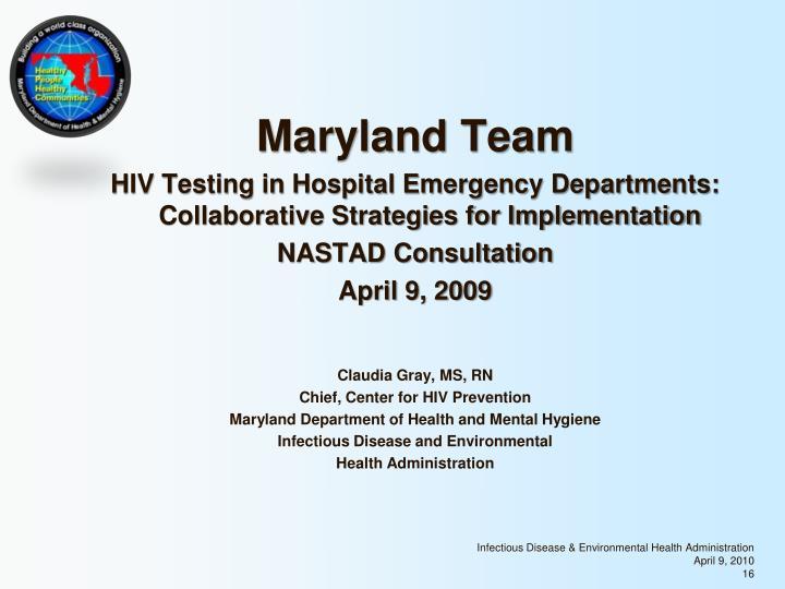 Maryland Team
