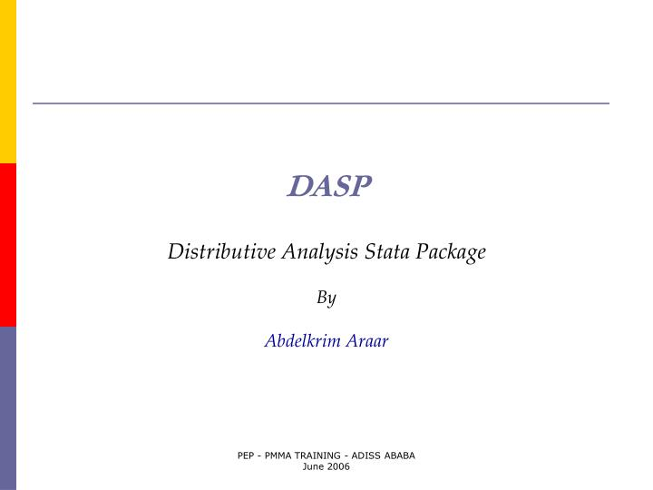 dasp distributive analysis stata package by abdelkrim araar
