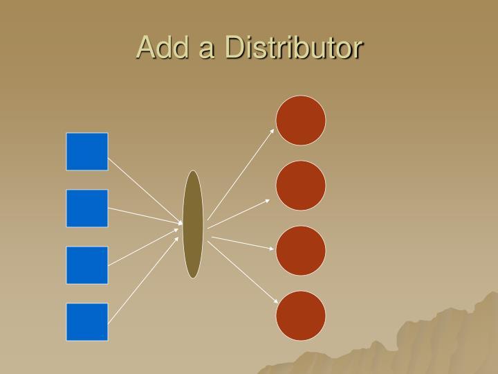 Add a Distributor