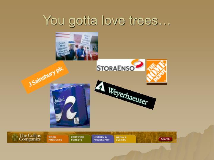 You gotta love trees…